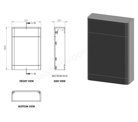 Technical drawing QS-V99743 / EF709MW