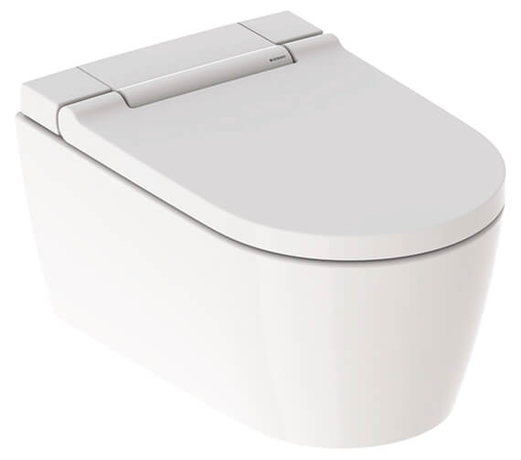 Geberit AquaClean Sela 375 x 565mm Wall Hung WC Pan And White Alpine Seat