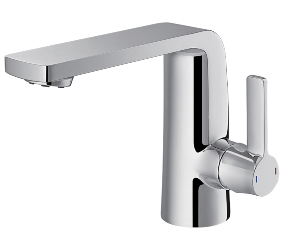 Flova Fusion Basin Mixer Tap With Clicker Waste