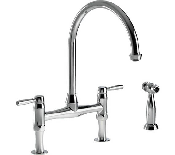 Abode Brompton Bridge Kitchen Mixer Tap With Handspray