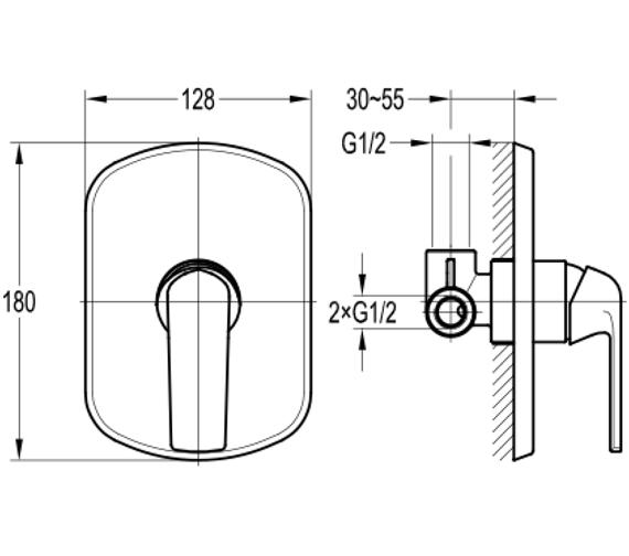 Technical drawing QS-V100679 / FNSHVO