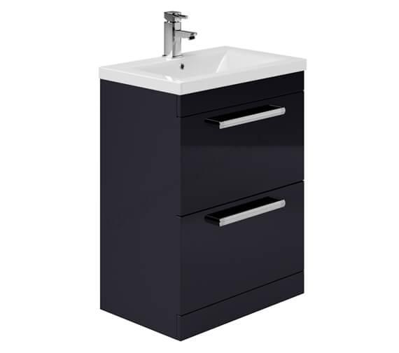 Essential Nevada Floor Standing 2 Drawer Vanity Unit And Basin