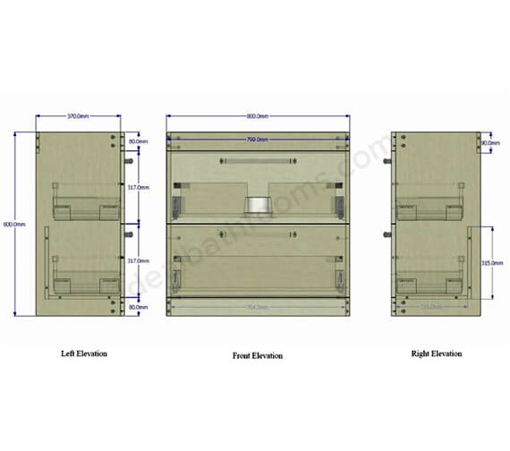 Technical drawing QS-V99745 / EFP302IN
