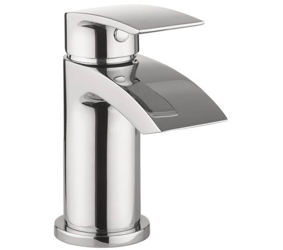 Crosswater Flow Mini Monobloc Basin Mixer Tap With Click Clack Waste