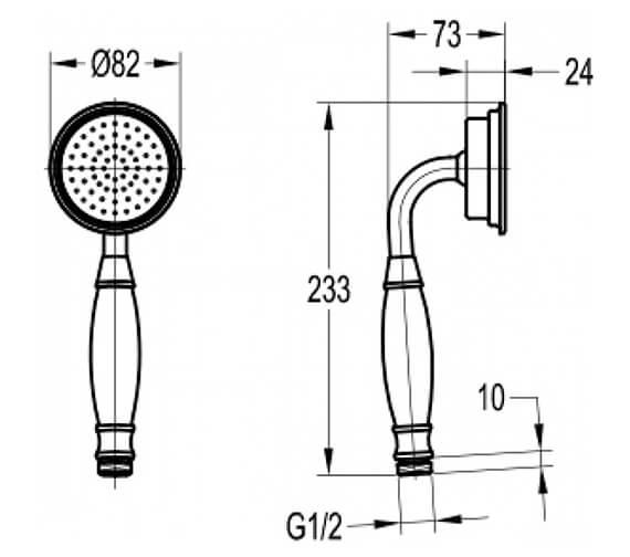 Technical drawing QS-V89456 / KI040