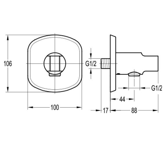 Technical drawing QS-V100681 / FNHSS
