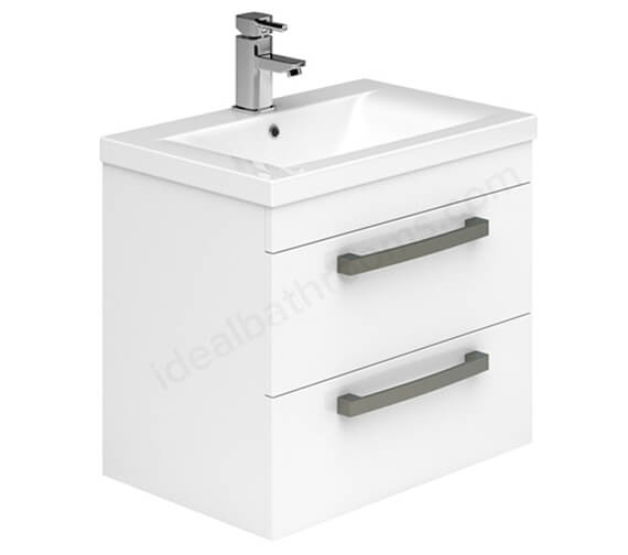 Essential Nevada 500mm Wall Mounted 2 Drawers Vanity Unit And Basin
