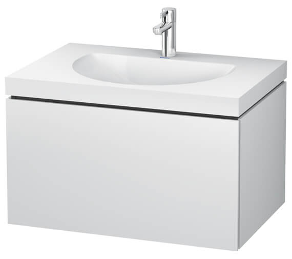 Duravit L-Cube Single Drawer Wall Mounted Vanity Unit With C-Bonded Washbasin