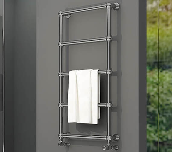 Aeon Arcane 660mm Wide Vertical Stainless Steel Towel Rail Polished