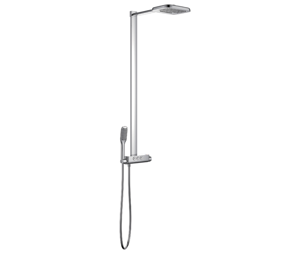 Flova Fusion Goclick Exposed Thermostatic Shower Column With 3 Outlets