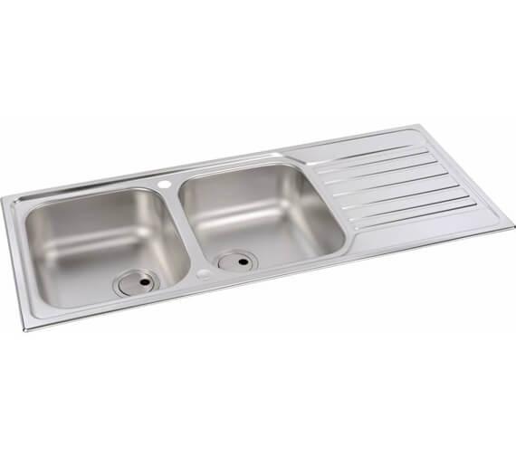 Abode Connekt Stainless Steel 2.0 Bowl Kitchen Sink With Drainer