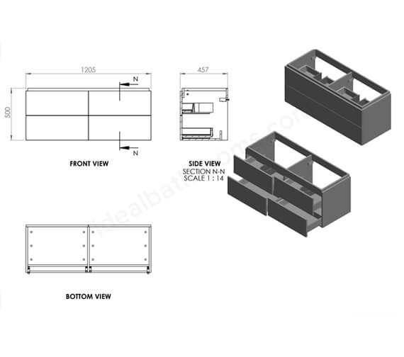 Technical drawing QS-V99749 / EFP603MB