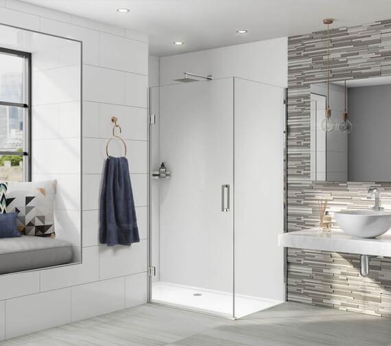 Aqata Design DS456 Sleek Hinged Door Corner Entry Enclosure