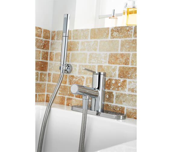 Mira Evolve Contemporary Bath Shower Mixer Tap Chrome
