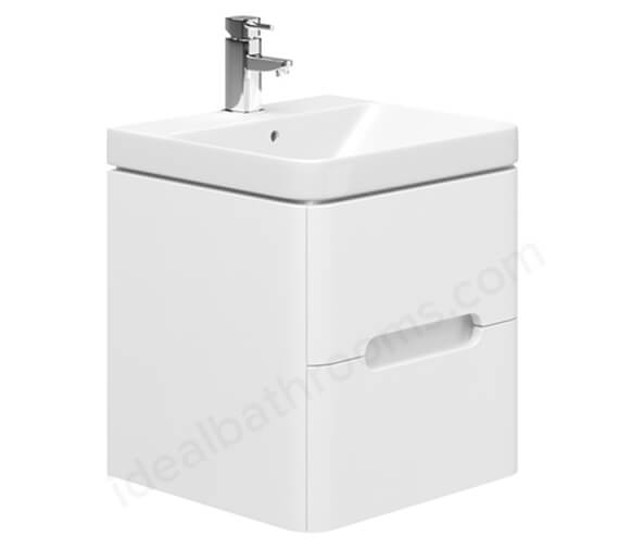 Essential Colorado Wall Hung Vanity Unit And Basin - 500mm