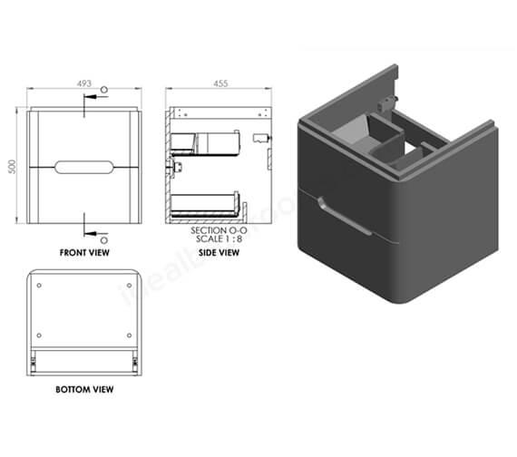 Technical drawing QS-V99751 / EFP704MW