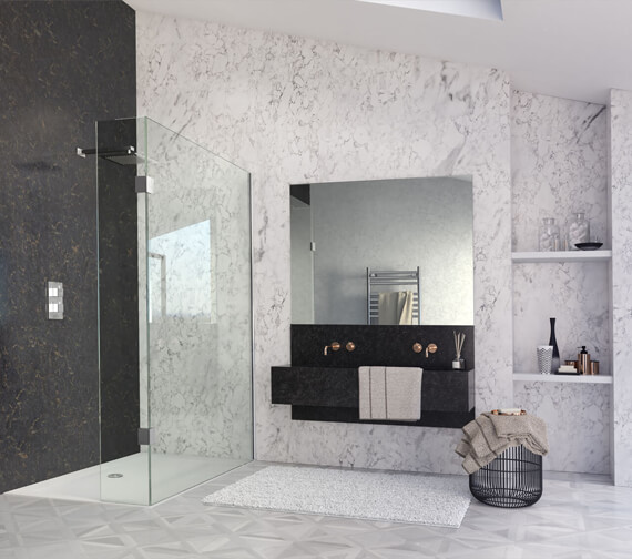 Aqata Design DS445 Left-Hand Entry 1000mm Walk-In With Fixed Panel