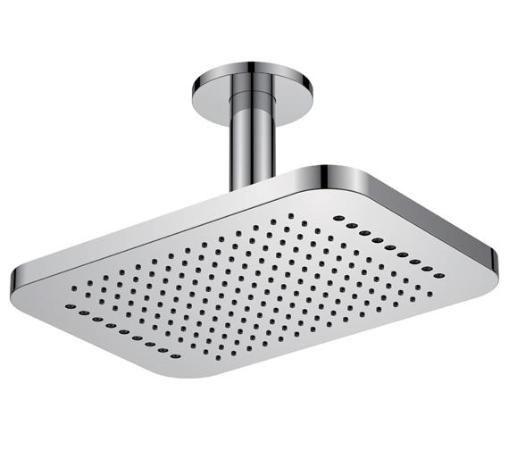 Flova Design 2 Function Ceiling Mounted Shower Head Rainshower With Rainstream