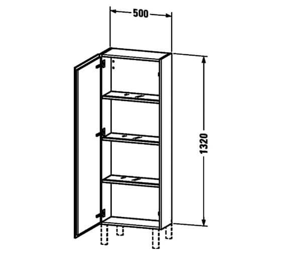 Technical drawing QS-V63421 / LC1168L1818