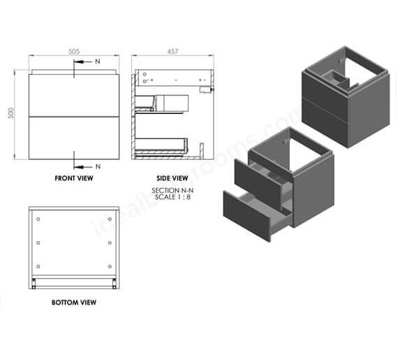 Technical drawing QS-V99748 / EFP601MB