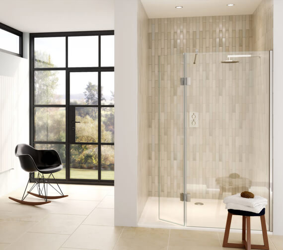 Aqata Design DS446 Shower Screen And Hinged Panel For Recess Installation - 1200mm