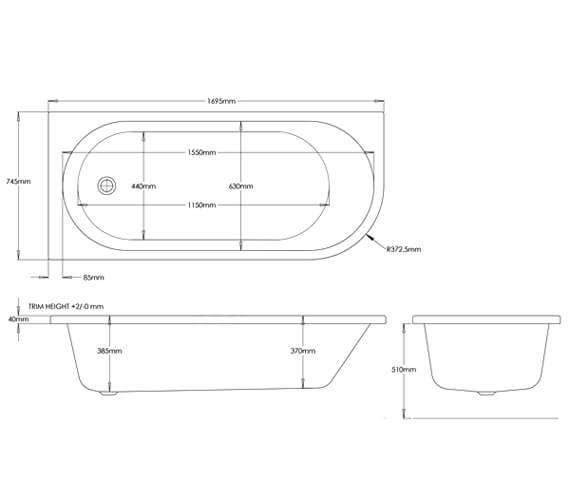 Technical drawing QS-V99753 / EB549