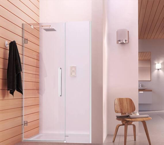 Aqata Design DS457 800mm Left-Hand Hinged Door And Inline Panel For Recess