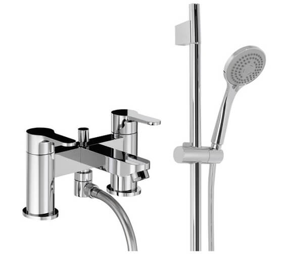 Abode Debut Deluxe Deck Mounted Bath Shower Mixer Tap With Kit