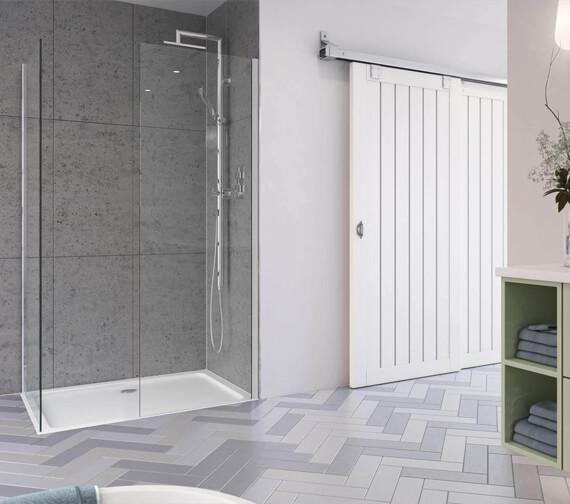 Aqata Design Sleek DS405 Walk-In Corner Entry Enclosure 1200 x 760mm