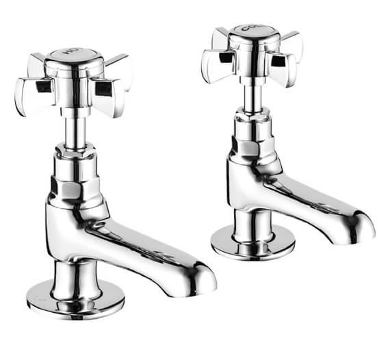 Niagara Bayswater Pair Of Chrome Bath Pillar Taps