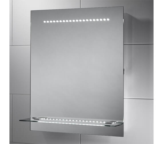 Sensio Nyla 500 x 600mm Illuminated LED Mirror With Integrated Glass Shelf