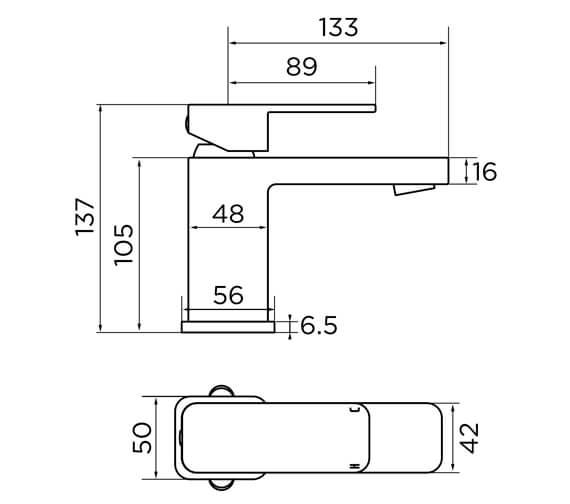 Technical drawing QS-V93863 / 9136BL