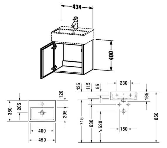 Technical drawing QS-V80781 / LC6245L1818