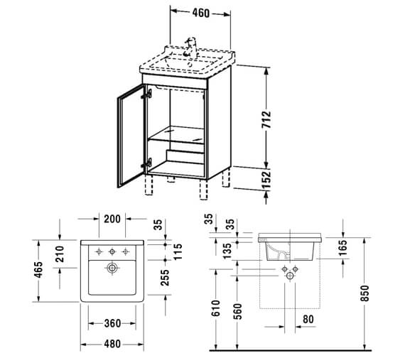 Technical drawing QS-V81978 / LC6169L1818