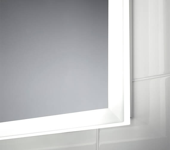 Additional image of Sensio Glimmer Dimmable Mirror With Diffused LED Border