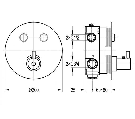 Technical drawing QS-V100709 / LVTGO2TRIM-RO