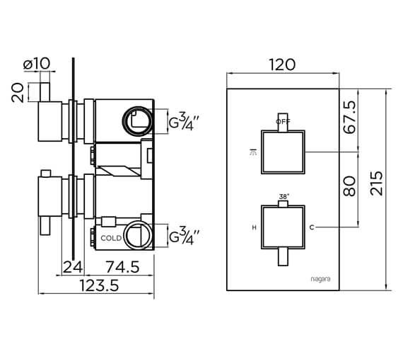 Technical drawing QS-V93869 / 9310