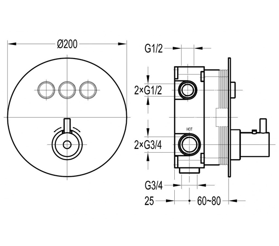 Technical drawing QS-V100710 / LVTGO3TRIM-RO|GOBOX333