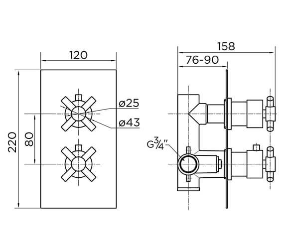 Technical drawing QS-V93871 / 9314