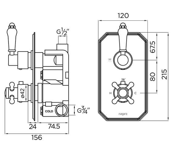 Technical drawing QS-V93872 / 9316