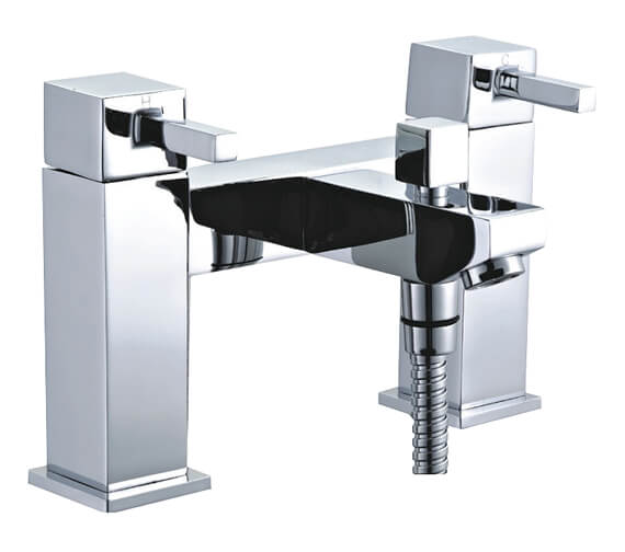 Niagara Finsbury Chrome Deck Mounted Bath Shower Mixer Tap With Kit