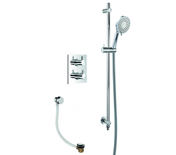 Flova Levo Thermostatic Shower Pack With Bath Overflow Filler