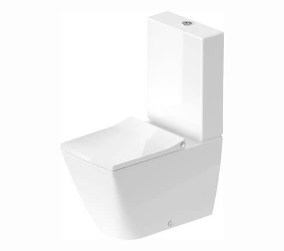 Duravit Viu 350 x 650mm Close Coupled Rimless WC Pan