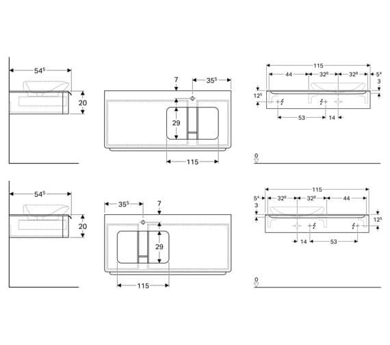Technical drawing QS-V93818 / 824160000