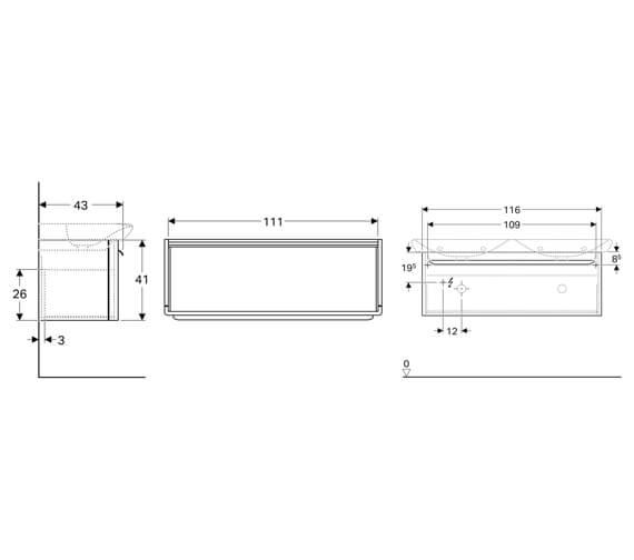Technical drawing QS-V93819 / 824130000