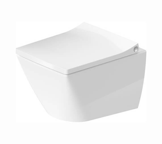 Duravit Viu 370 x 480mm Wall Mounted Compact Rimless WC Pan