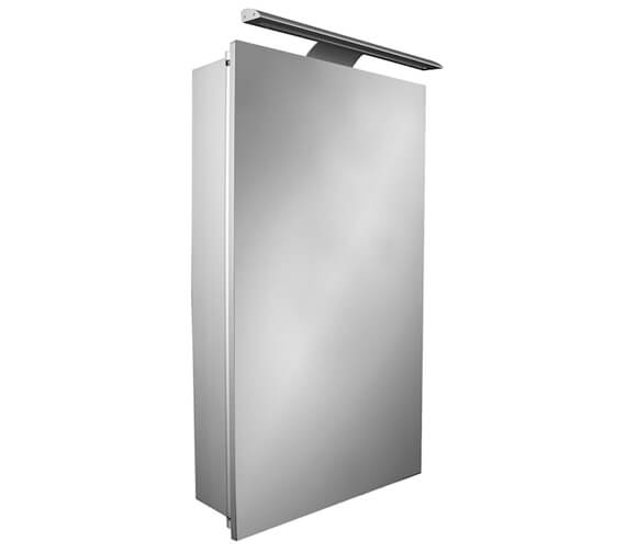 Roca Sol 400mm Single-Door Mirror Cabinet With LED Lighting