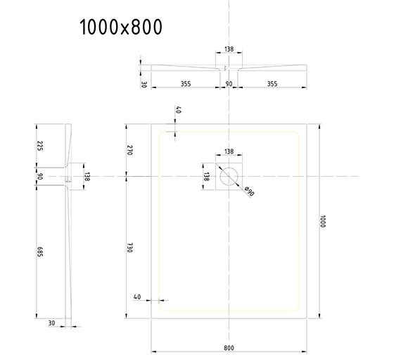 Technical drawing QS-V9364 / T108RTG