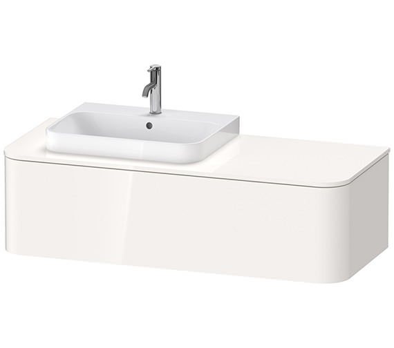 Duravit Happy D.2 Plus 1300 x 550mm Vanity Unit With 1 Pull-Out Compartment For Basin Left