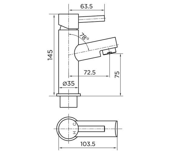 Technical drawing QS-V101221 / 9090